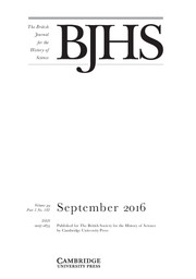 The British Journal for the History of Science Volume 49 - Issue 3 -