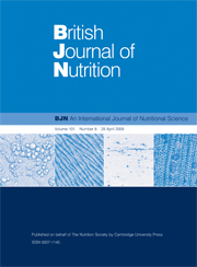 British Journal of Nutrition Volume 101 - Issue 8 -