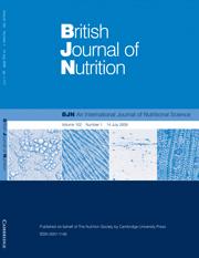 British Journal of Nutrition Volume 102 - Issue 1 -