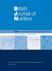 British Journal of Nutrition Volume 102 - Issue 10 -