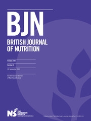 British Journal of Nutrition Volume 110 - Issue 6 -
