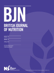 British Journal of Nutrition Volume 121 - Issue 10 -