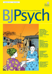 The British Journal of Psychiatry Volume 212 - Issue 1 -