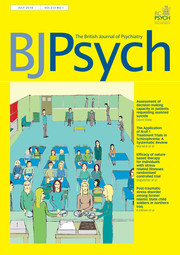 The British Journal of Psychiatry Volume 213 - Issue 1 -