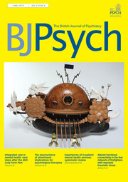The British Journal of Psychiatry Volume 214 - Issue 6 -