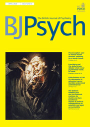The British Journal of Psychiatry Volume 216 - Issue 4 -