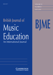 British Journal of Music Education Volume 33 - Issue 2 -