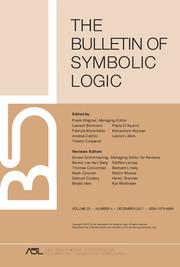Bulletin of Symbolic Logic Volume 23 - Issue 4 -