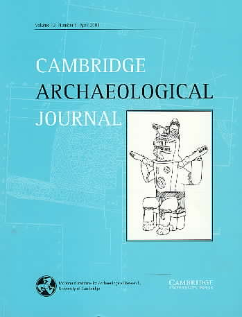 Cambridge Archaeological Journal Volume 13 - Issue 1 -