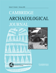 Cambridge Archaeological Journal Volume 19 - Issue 1 -