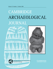 Cambridge Archaeological Journal Volume 19 - Issue 3 -