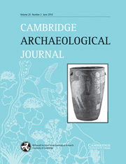 Cambridge Archaeological Journal Volume 20 - Issue 2 -