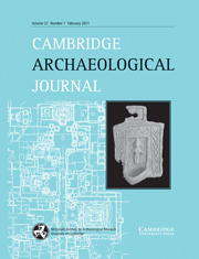 Cambridge Archaeological Journal Volume 21 - Issue 1 -