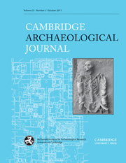Cambridge Archaeological Journal Volume 21 - Issue 3 -