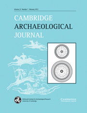 Cambridge Archaeological Journal Volume 22 - Issue 1 -