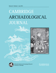 Cambridge Archaeological Journal Volume 22 - Issue 2 -