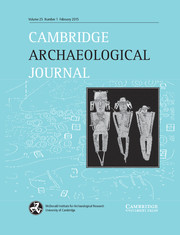 Cambridge Archaeological Journal Volume 25 - Issue 1 -