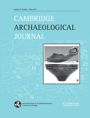 Cambridge Archaeological Journal Volume 25 - Issue 2 -