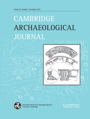 Cambridge Archaeological Journal Volume 25 - Issue 4 -