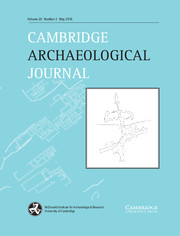 Cambridge Archaeological Journal Volume 26 - Issue 2 -