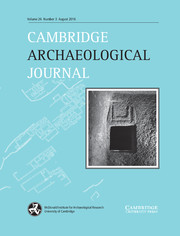 Cambridge Archaeological Journal Volume 26 - Issue 3 -