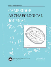 Cambridge Archaeological Journal Volume 29 - Issue 3 -
