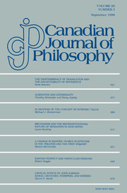 Canadian Journal of Philosophy Volume 29 - Issue 3 -