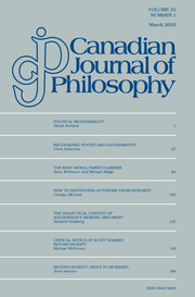 Canadian Journal of Philosophy Volume 35 - Issue 1 -