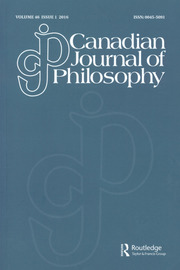Canadian Journal of Philosophy Volume 46 - Issue 1 -