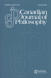 Canadian Journal of Philosophy Volume 46 - Issue 6 -