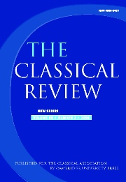 The Classical Review Volume 56 - Issue 2 -