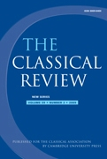 The Classical Review Volume 59 - Issue 2 -