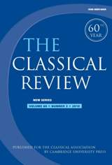 The Classical Review Volume 60 - Issue 2 -