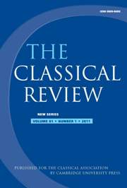 The Classical Review Volume 61 - Issue 1 -