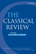 The Classical Review Volume 62 - Issue 1 -