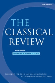 The Classical Review Volume 63 - Issue 2 -