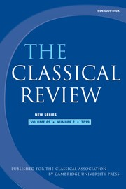The Classical Review Volume 69 - Issue 2 -