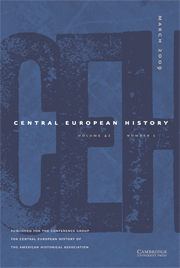 Central European History Volume 42 - Issue 1 -