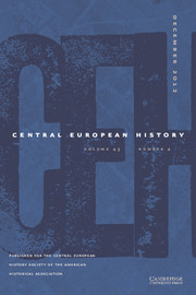 Central European History Volume 45 - Issue 4 -