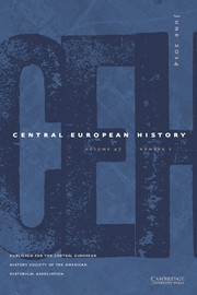 Central European History Volume 47 - Issue 2 -