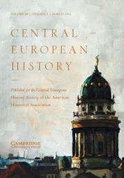 Central European History Volume 49 - Issue 1 -