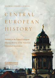 Central European History Volume 49 - Issue 2 -
