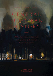 Central European History Volume 52 - Issue 2 -