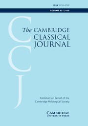 The Cambridge Classical Journal Volume 65 - Issue  -