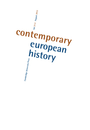 Contemporary European History Volume 21 - Issue 3 -  Towards a New History of European Law