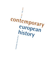 Contemporary European History Volume 28 - Special Issue2 -  Making Modern Social Science: The Global Imagination in East Central and Southeastern Europe after Versailles