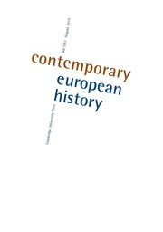 Contemporary European History Volume 28 - Issue 3 -