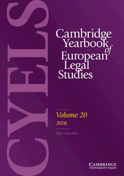 Cambridge Yearbook of European Legal Studies Volume 20 - Issue  -