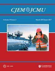 Canadian Journal of Emergency Medicine Volume 19 - Issue 2 -