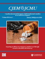 Canadian Journal of Emergency Medicine Volume 20 - Issue 1 -